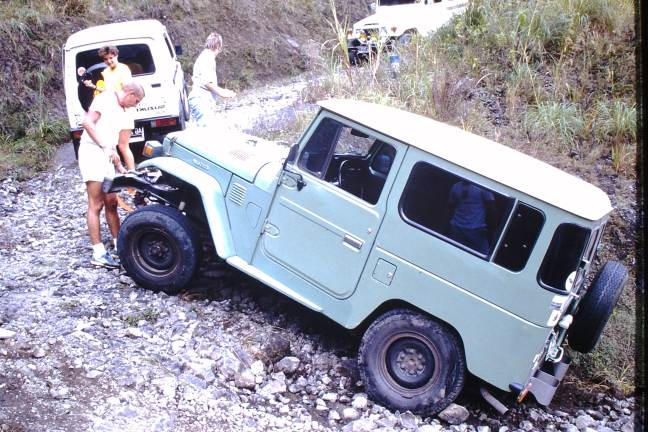 Towing out a Landcruiser